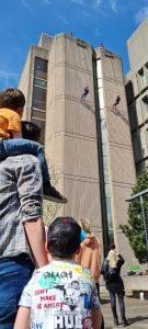 Stockport Spidermen abseiling Stopford House