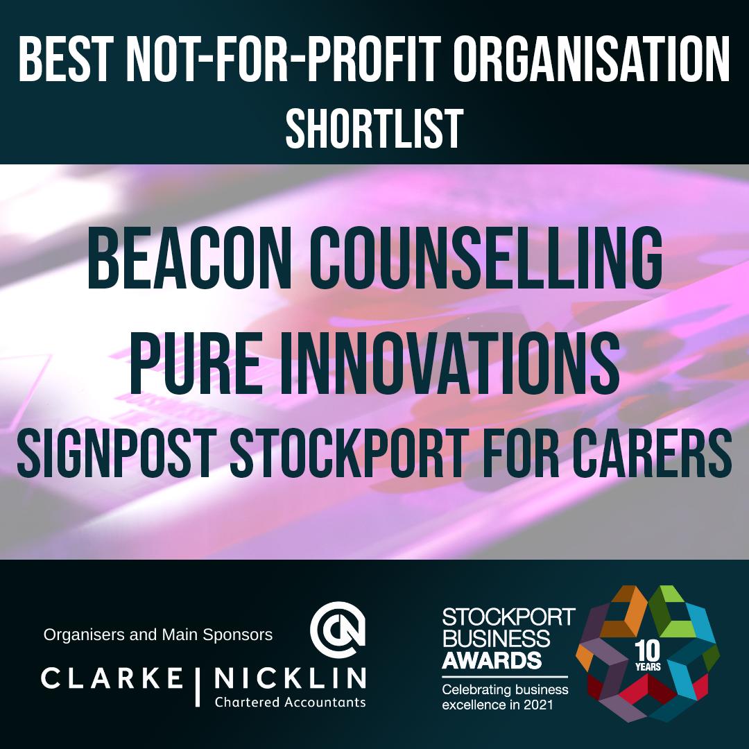 Stockport Business Awards Best Not For Profit Shortlist